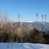 青薙山・青笹山の稜線