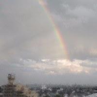 0616 朝は雷、昼はにわか雨、夕方の虹