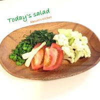 沖縄県産野菜でサラダ