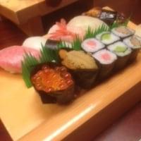 旨いお寿司で腹一杯