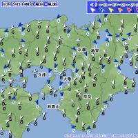 10月24日 アメダスと天気図。
