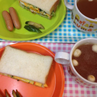 キャベツのサンドイッチ