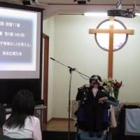 名草キリスト教会の礼拝で奨励