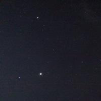 宿舎前で星景写真を撮ってみた