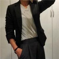 50代!!ジャケットにワイドパンツの仕事コーデ♪♪=自宅に戻りました☆彡=【通勤編】
