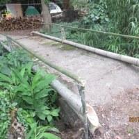 今日は、橋の欄干と境界線の生垣を作成しました。