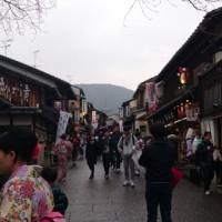 清水坂からウォーキング🎵「京あみ」で