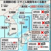 北朝鮮のミサイル発射、連続4回の失敗