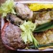 竹輪の肉詰め丼弁当/寝違え?