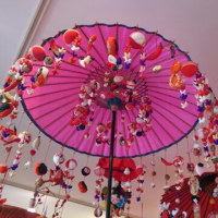 ちりめん細工の傘飾り