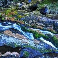 長野県 木曽町の滝 尾の島の滝
