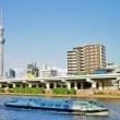 隅田川に架かる厩橋
