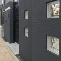 エクステリア工事 門柱~門扉を黒で