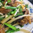 花菖蒲と中華料理