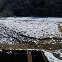 冬の棚田の手入れ作業