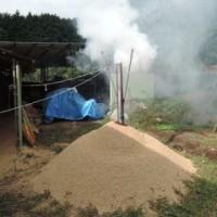 もみ殻燻炭の作り方