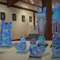 ガラス工房うず~藤巻晶子造形・レリーフ展~  吹きガラスとサンドブラス体験制作 工房設立20周年♪