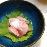 【食】アジのなめろう・刺身
