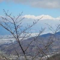 常念山脈のモルゲンロート