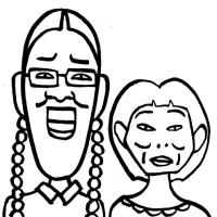 「かわいく描く実験」たんぽぽ(似顔絵)
