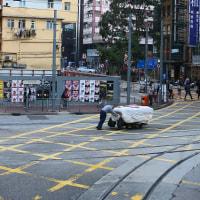 香港 2階建て路面電車乗車 4