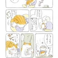 本 「ねことじいちゃん」 ねこまき著 KADOKAWA 第1巻2015年8月、第2巻2014年4月 @1100円