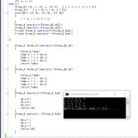 C++で遊んでました。three_dクラス。