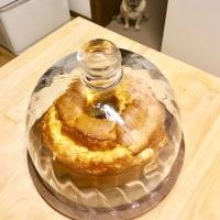 ヨモギのシフォンケーキ 甘酒のシフォンケーキ