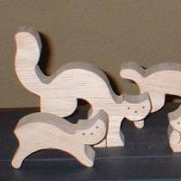 組み木 猫とネズミ