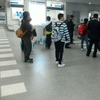 名古屋空港到着