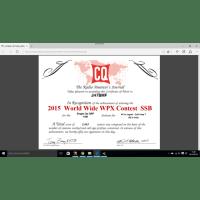 CQ WW WPX PHONE 第一報