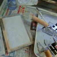 2017/4/25火  アトリエーK絵画教室5月のカリキュラム「フレスコ画授業のための作品見本」