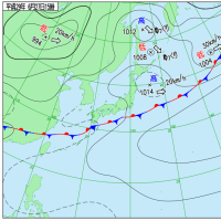 6月27日 アメダスと天気図。
