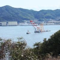 深田サルベージ「伊豆」 出港します