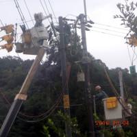電柱交換工事