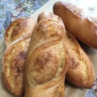 フランスパン、柔杏仁