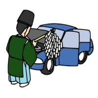冠嶽神社・車のお祓い・交通安全祈願祭(鹿児島県いちき串木野市)