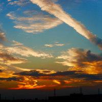 綺麗な夕日とオルゴール