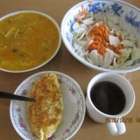 手抜きスープの朝ご飯