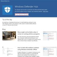 Windows Defender Hub をインストールしたのですが、情報がアップデートされません。