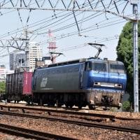 夙川でEF200牽引貨物を3本(5月26日撮影)