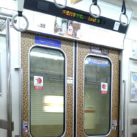 豹柄の地下鉄のドア!さすが大阪