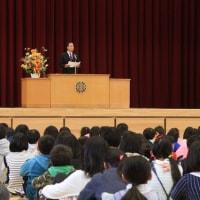 湯之谷小学校で開校式