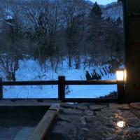 湯西川温泉で雪を見ながらの露天風呂がよかったです~♪