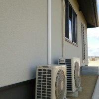 新築のエアコン取り付け