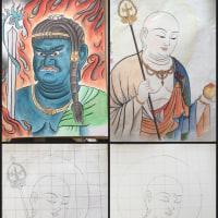 仏画も描きたくて。:教室14回目