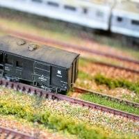 魅かれた列車・・ジオラマ模型