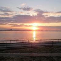朝日を眺めてます~♪