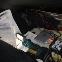W221 S550ロング地デジ取り付け。