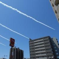 ブルーインパルス、熊本の空を飛翔